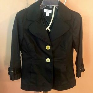 Loft black blazer with gold details